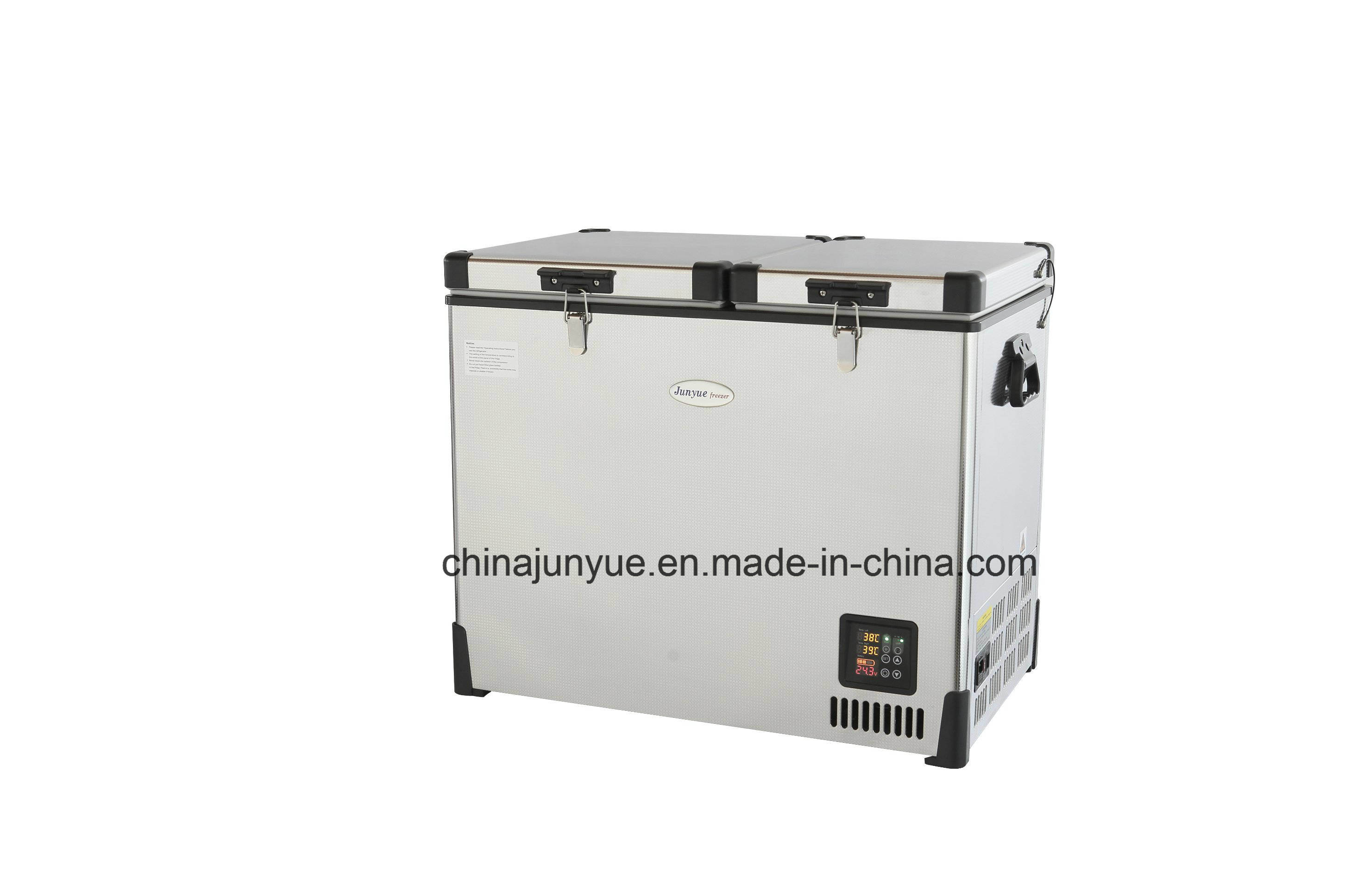 Scd-69L 12/24V DC Stainless Steel Doubletemperature Refrigerators Flat Bottom