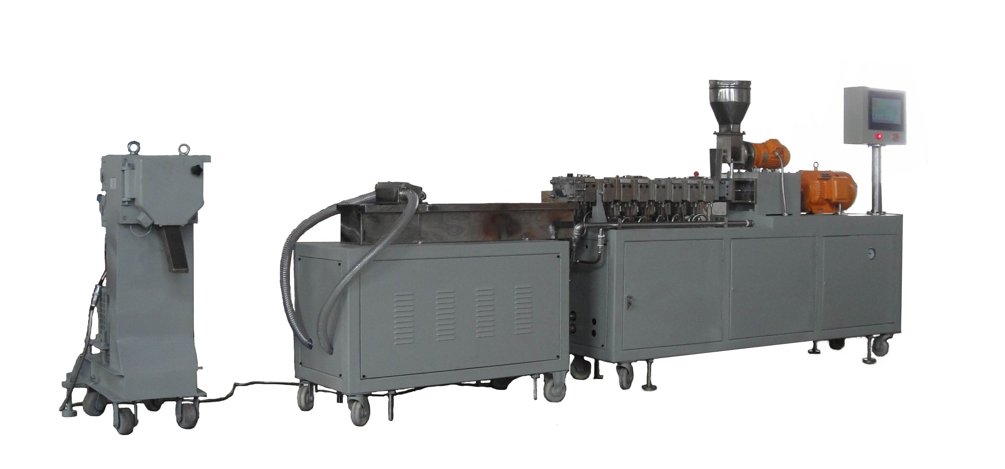 Twin-Screw Extruder Co-Rotating, High Output Capacity, 500-600rpm Screw Speed, Plastic Extruder