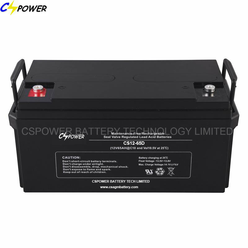 12V 65ah Maintenance Free AGM Sealed Lead Acid Battery CS12-65D