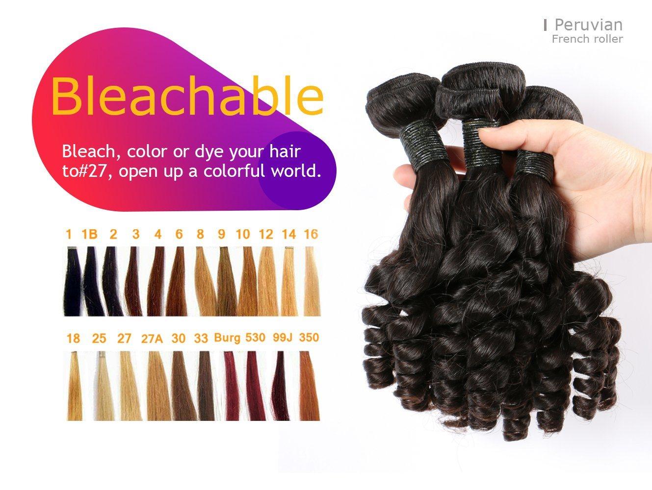 Bliss Peruvian Hair French Roller 8A Human Hair Virgin Hair