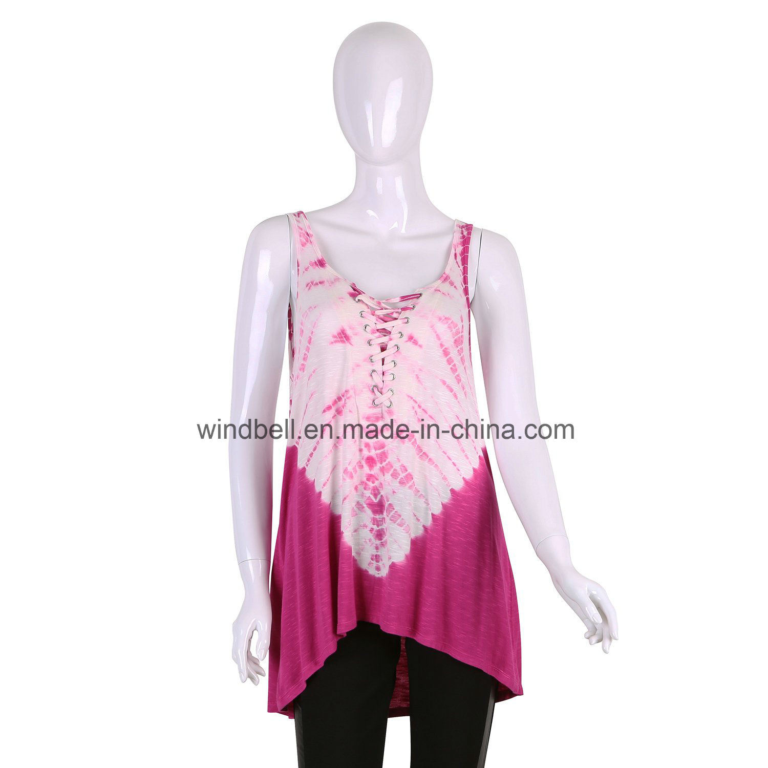 New Style Top for Women with Garment Tie Dye