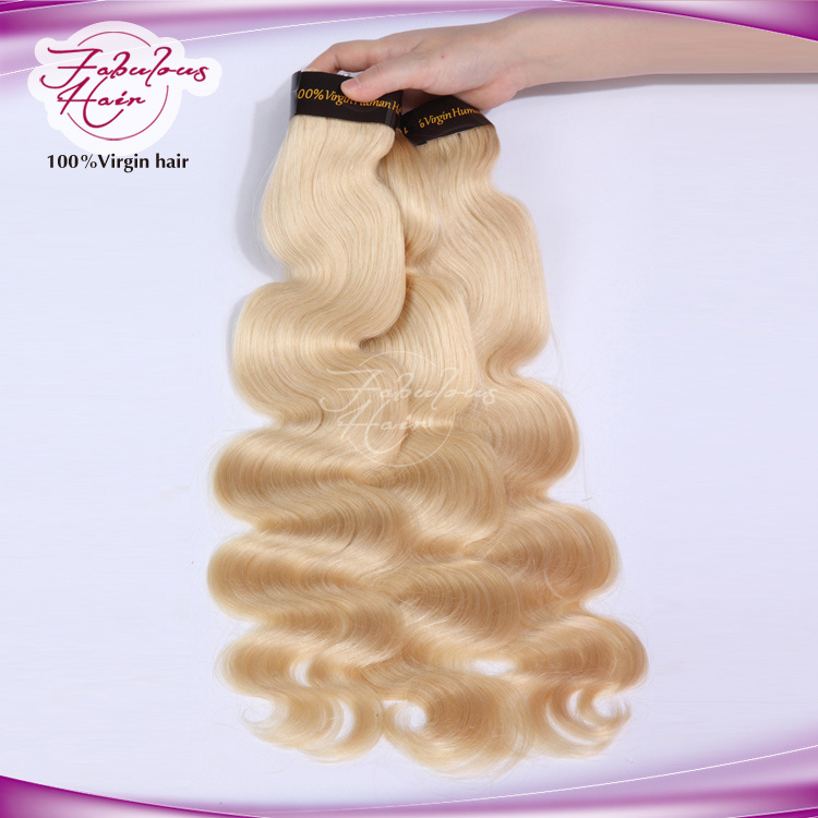 8A Soft and Smooth Color 613# Brazilian Hair Body Wave Platinum Blonde Hair