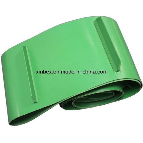 PVC Green Matt/Shiny Conveyor Belt with Cleats/Profile