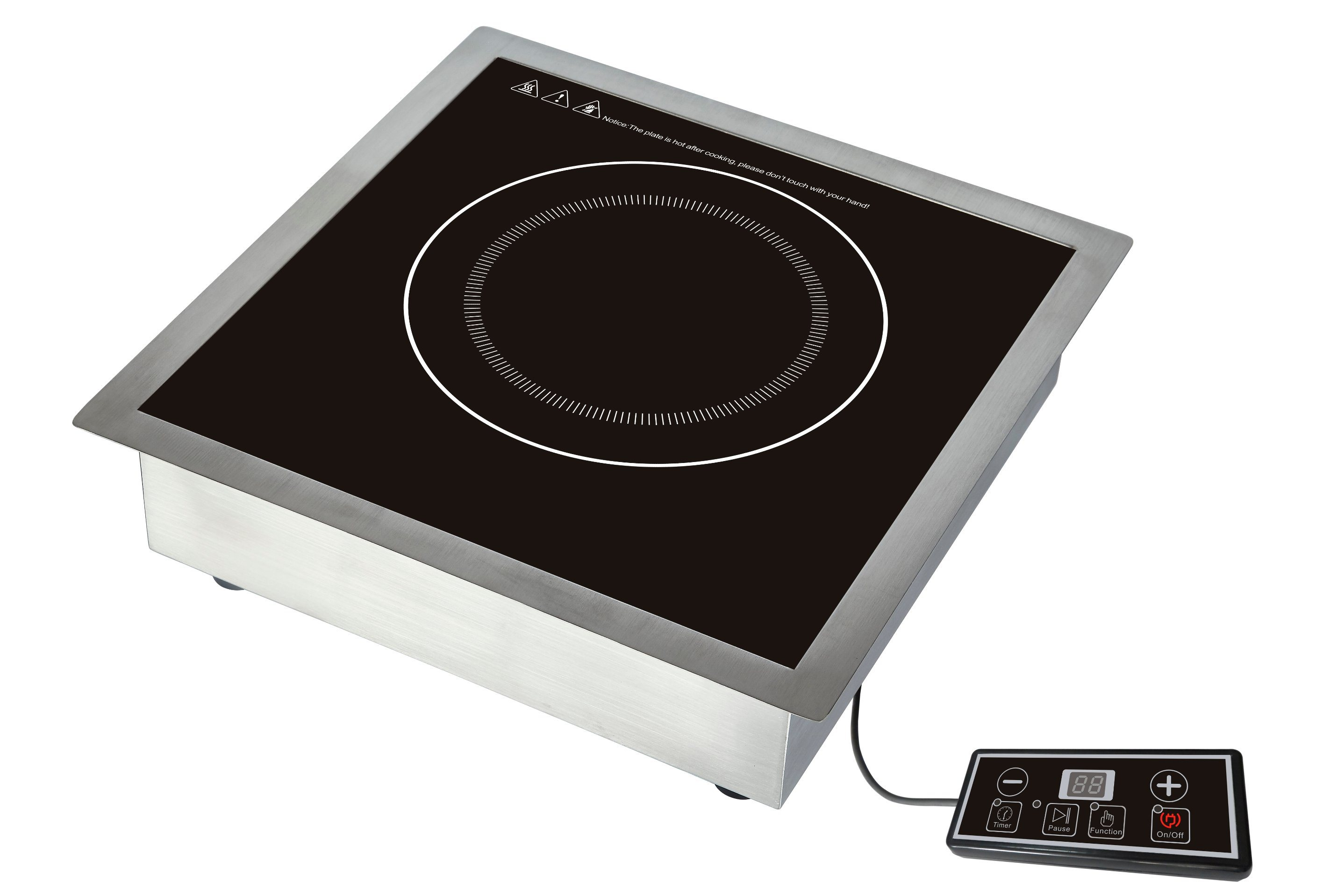 ETL/cETL Approved 240V/60Hz High Power 3500W Commercial Induction Cooktop Model SM-C01D