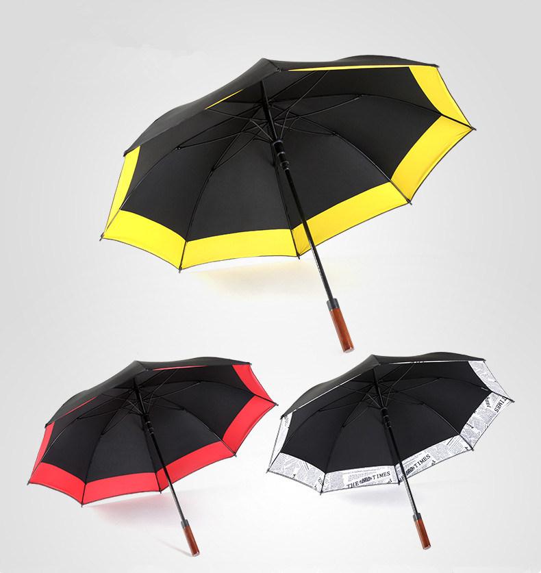 Solid Wood Long Handle Umbrella