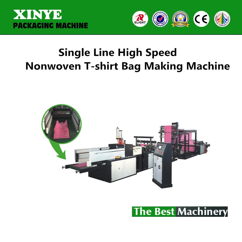 Single Line High Speed Nonwoven T-Shirt Bag Making Machine