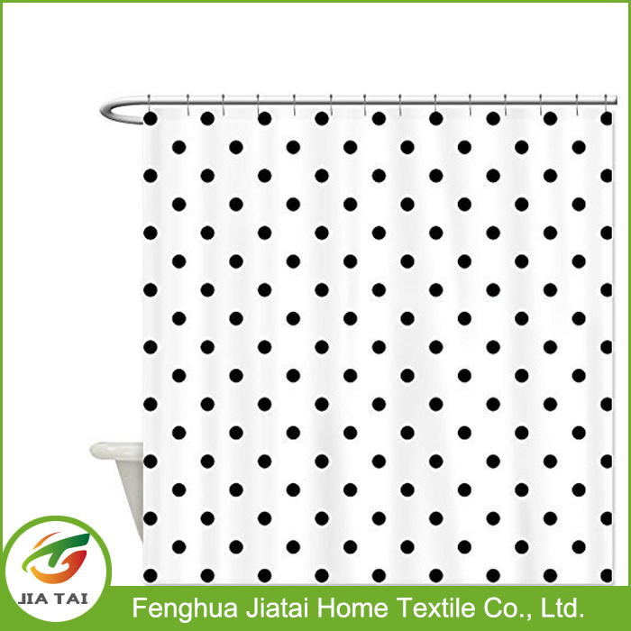 Polyester Fabric Colorful Polka DOT Hotel Shower Curtain