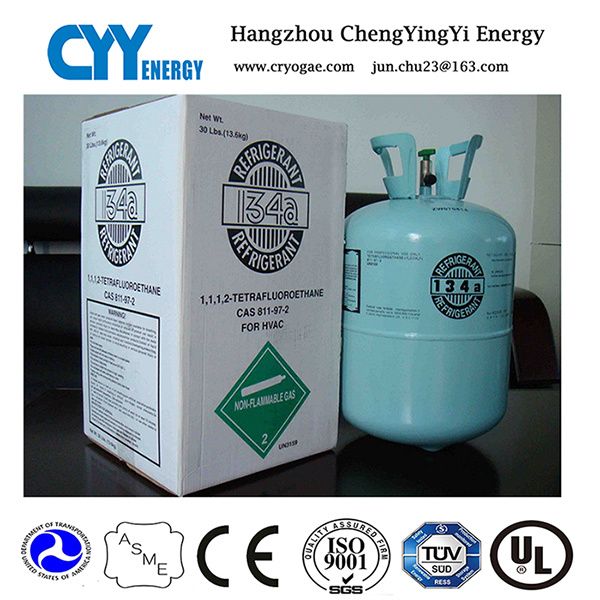 Refrigerant Gas R134A (R502, R410A, R422D, R507) with 99.8% Purity