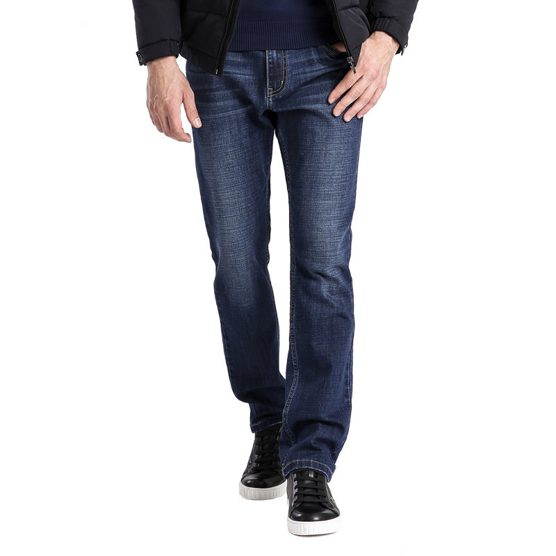 Mens Straight Blue Jean Pants Fashion Denim Jeans