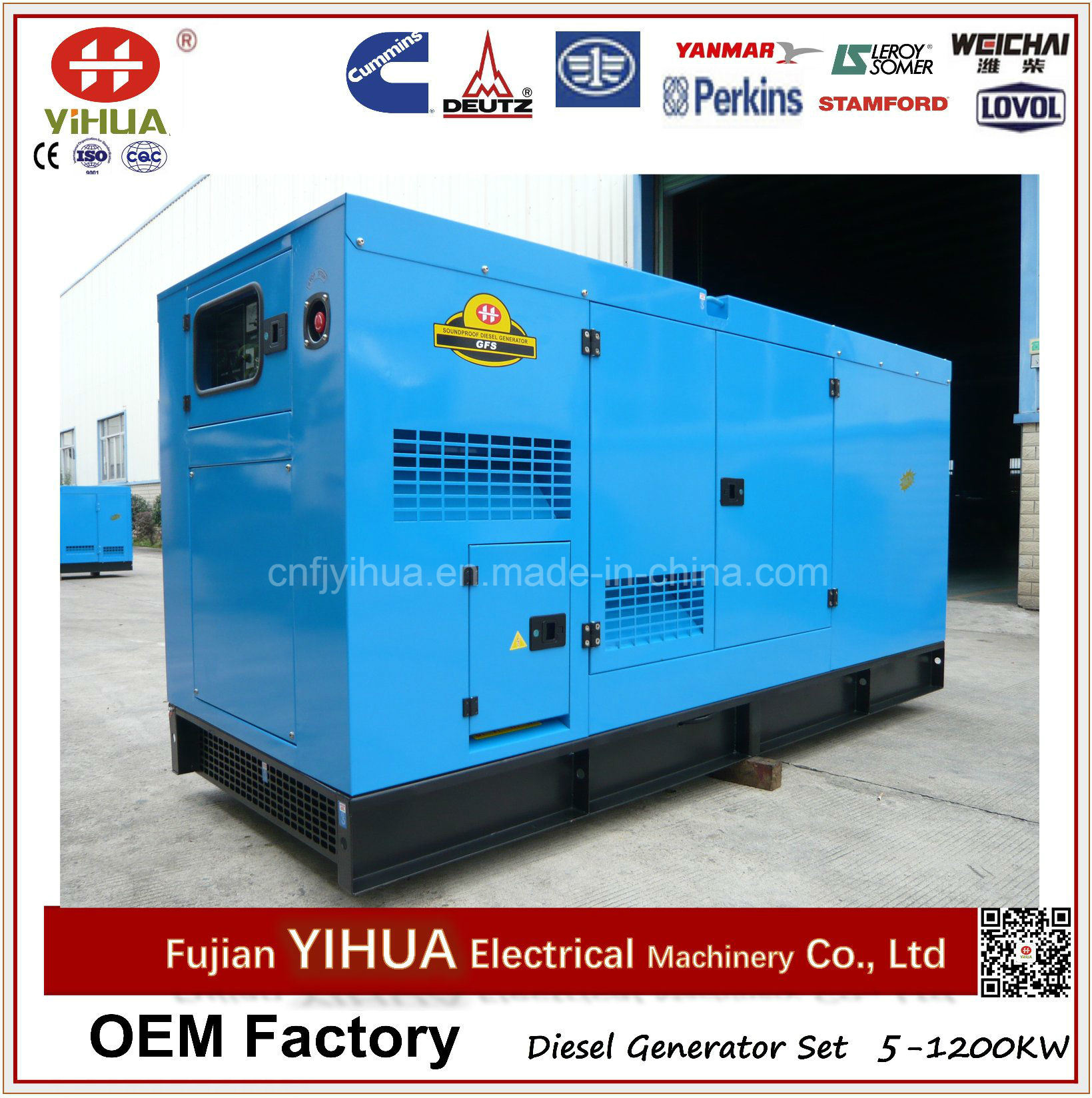 China 20 160kw 25 200kVA Industrial Silent Diesel Generator with