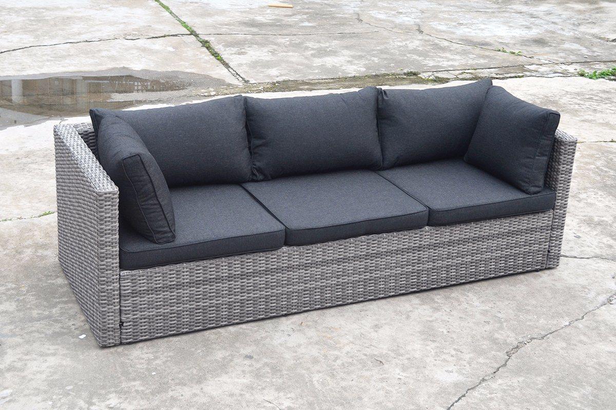 Modern Patio Outdoor Garden Leisure Flat Wicker Aluminum Offce Home Hotel Sofa (J721KD)