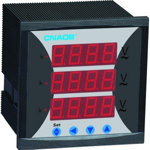 Three Phase Voltmeter with Alarm Size 96*96 AC500V