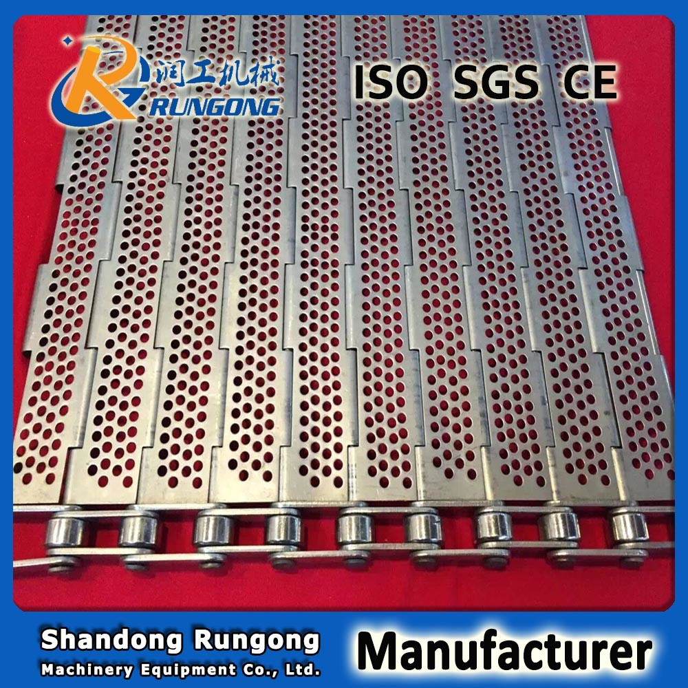 Heat Resistance Plate Linked Perforated Conveyor Belt for Biscuit Machine