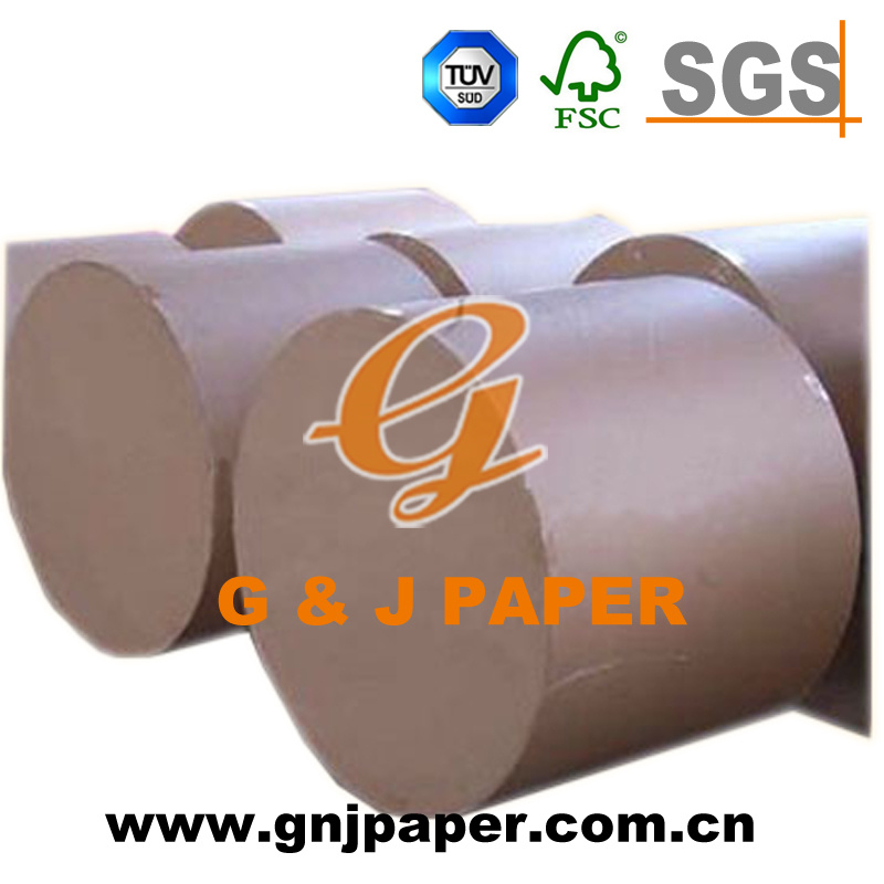 White Newsprint Paper with Brown Kraft Paper Packing