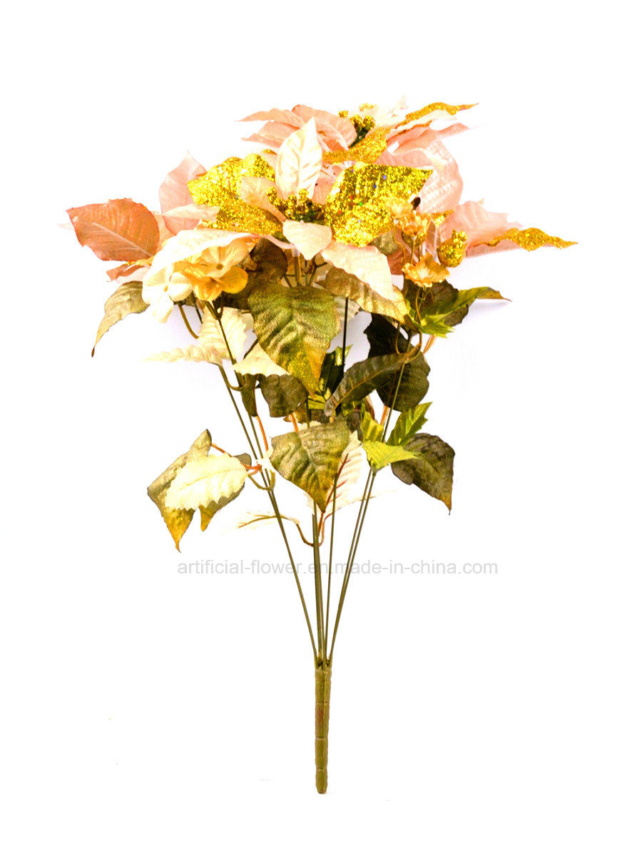 Artificial Hydrangea Christmas Floral Arrangement Withx8 for Decoration