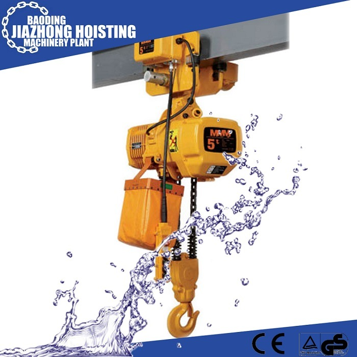 5 Ton Electric Chain Hoist with Electric Trolley (single speed)