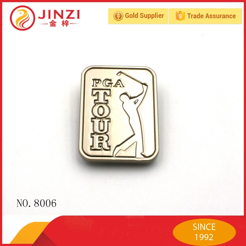 Factory Supplier Custom Die Casting Metal Logo Plate for Handbags