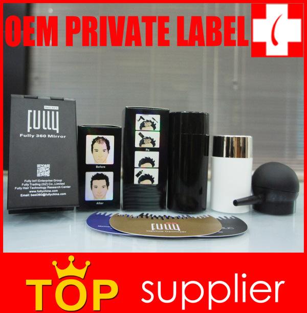 2016 Premium OEM Private Label Factory Keratin Hair Building Fibers
