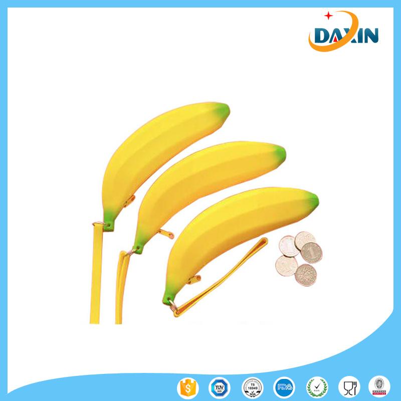 Wholesale Banana Silicone Purse Custom Silicone Coin Wallet
