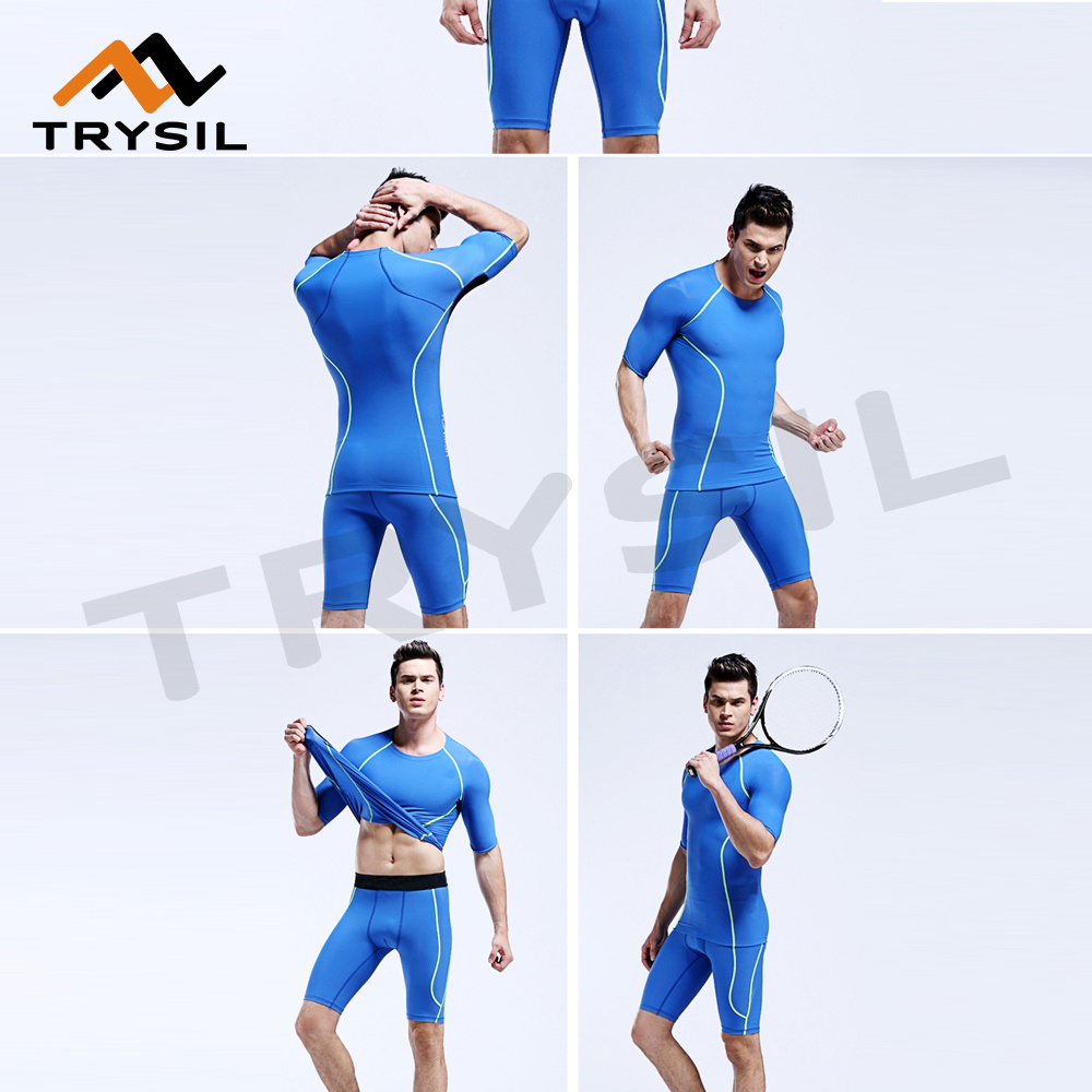 Summer Short Sportswear Sets Fitness Gym Clothing Cycling Wearing