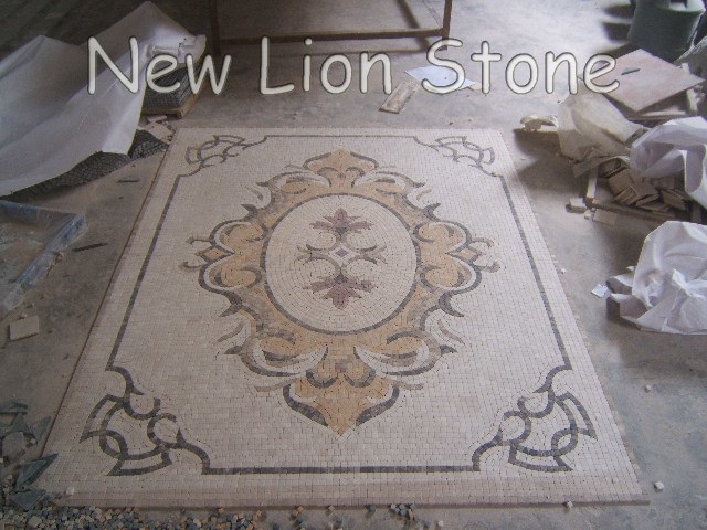 China Marble Mosaic Tiles Mosaic Medallions For Flooring