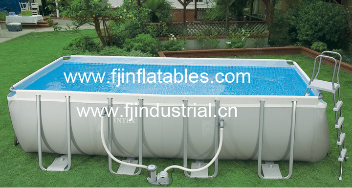 China Rectangular Swimming Pool Above Ground Swimming Pool Water Pool Metal Frame Pool Water