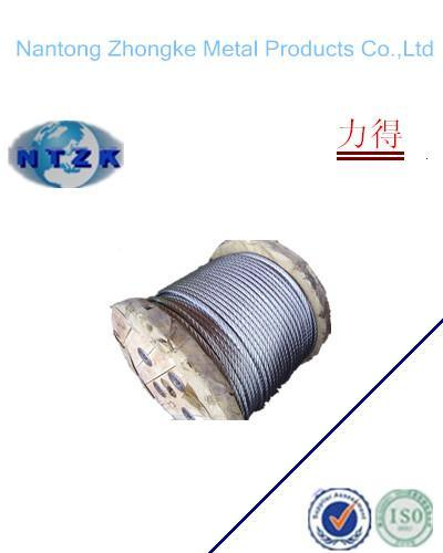 6*19+FC Ungalvanzied and Galvanized Steel Wire Rope, Chinese Rope