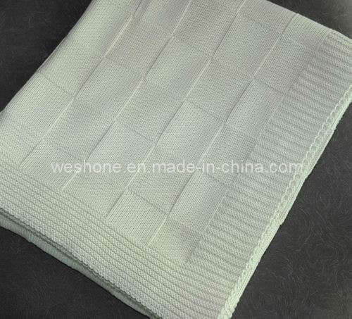100% Cotton Knitted Blanket