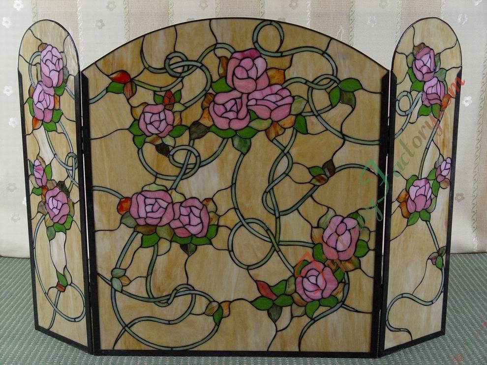 Tiffany Fireplace Screen Fst000001 China Tiffany Fireplace Screen Stained Glass