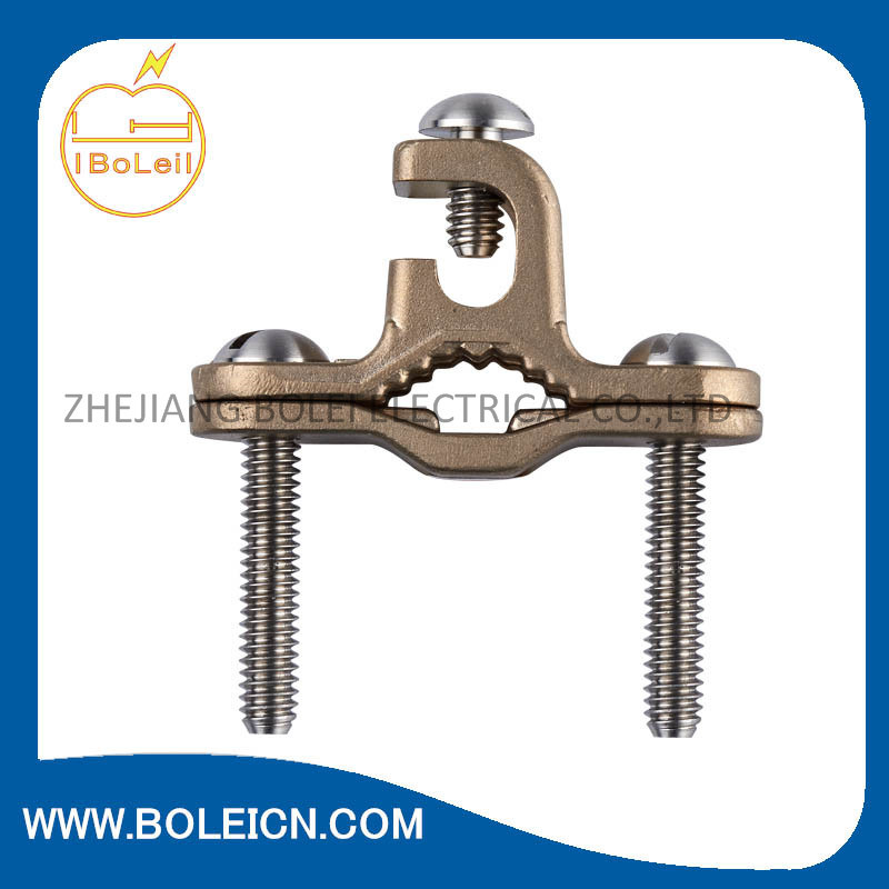 Bronze Ground Clamp for Bonding Bare Copper Wire to Water Pipe