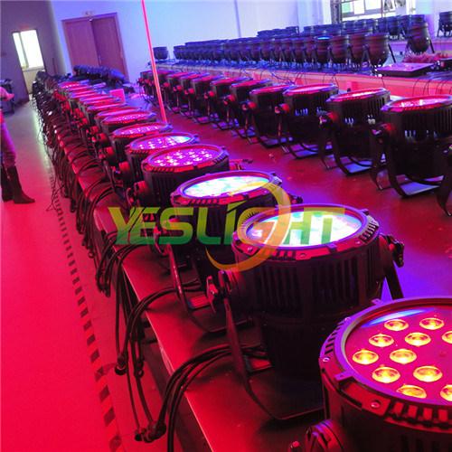 Slim LED PAR Light, IP65 DMX512 18PCS*10W RGBW 4in1 Powerful LEDs for Outdoor Using