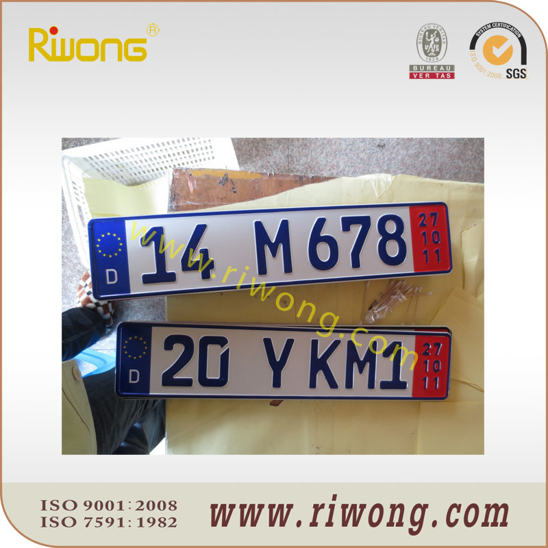 Decorative License Plate with Assorted Numbers