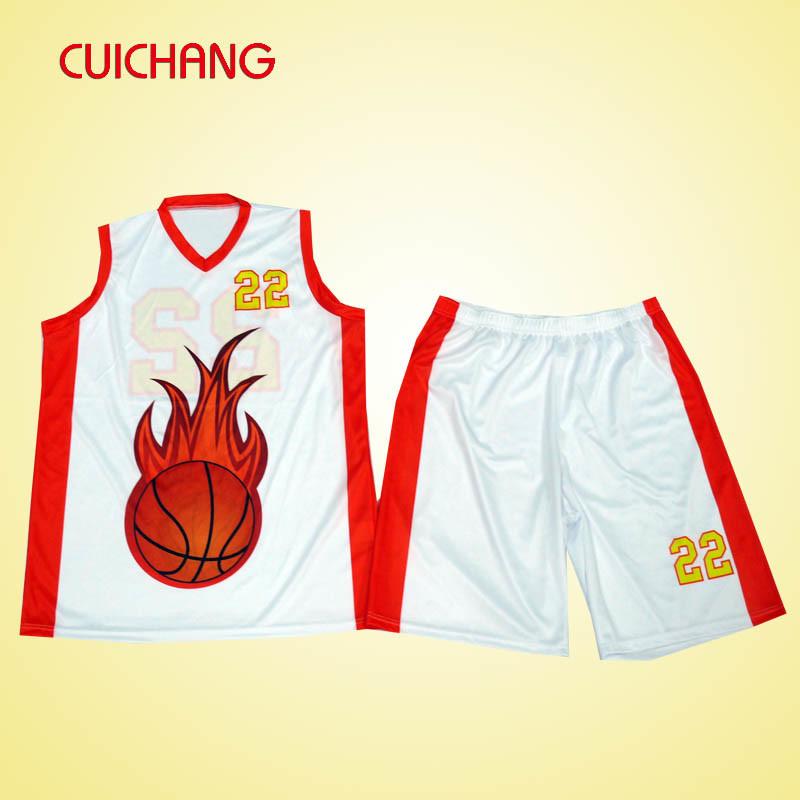 Basketball Uniform with Custom Design