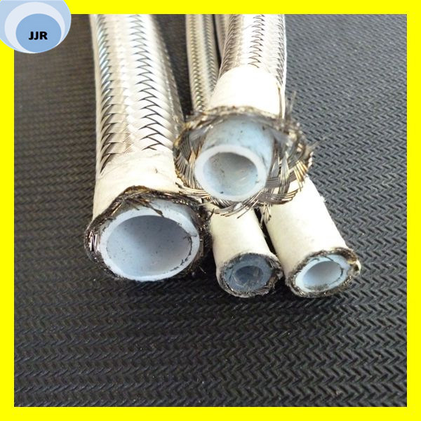 Stainless Steel Braided Teflon Hose Convoluted PTFE Hose