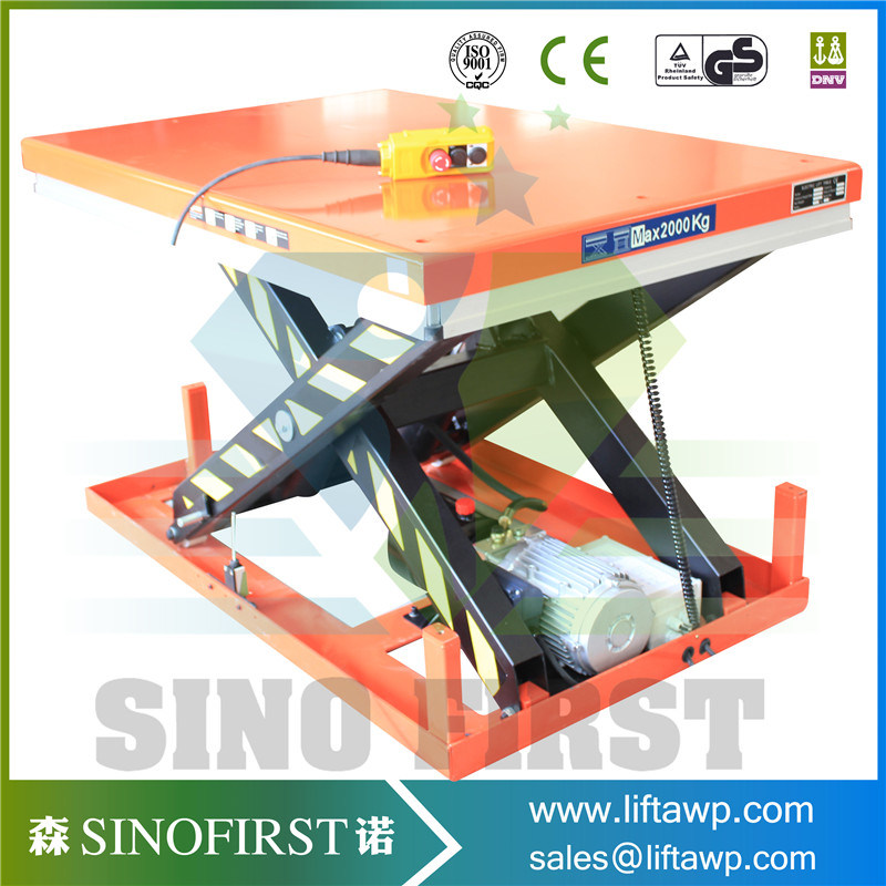 3ton 3000kg Fixed Electric Hydraulic Scissor Lift Table