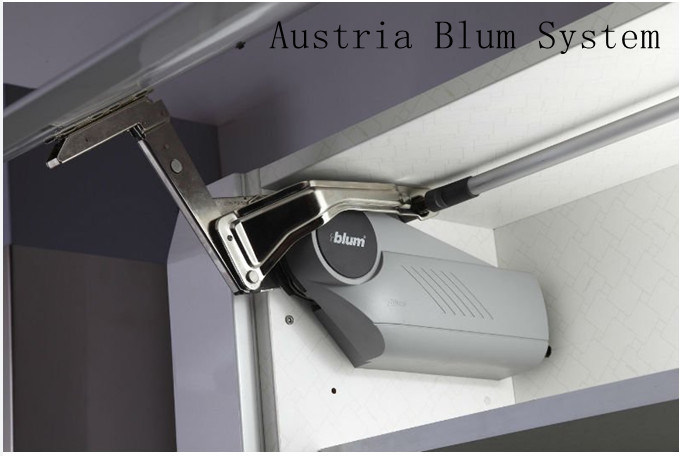 White Modern High Gloss Smart Kitchen Cabinet