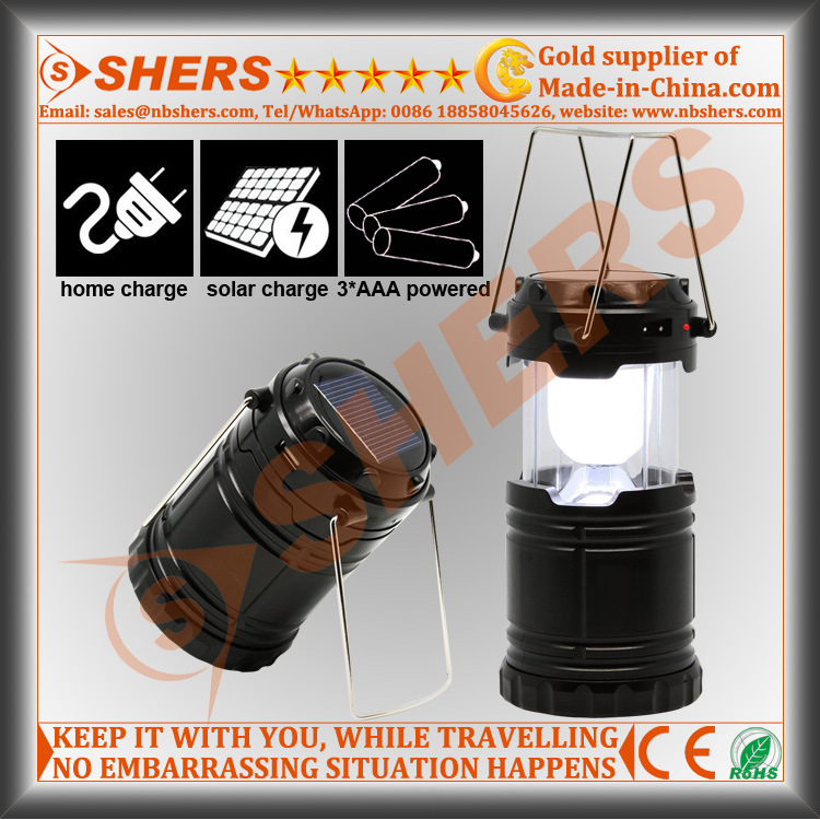 Rechargeable Extendable 6 SMD LED Camping Lantern USB Outlet