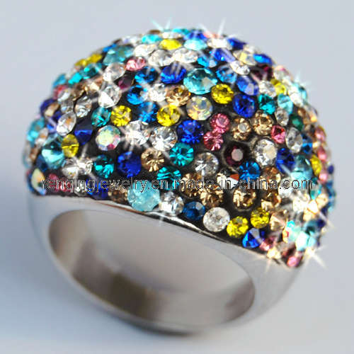 Multicolor Stainless Steel Rings for Wedding Anniversary Gift