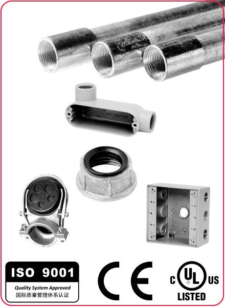 UL Listed Zinc Set Screw EMT Conduit Coupling