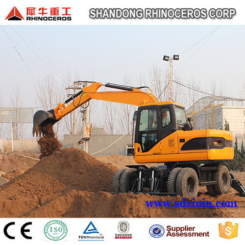 Wheel Excavator X120-L, Tyre Excavator 12 Ton for Sale in China in Asia