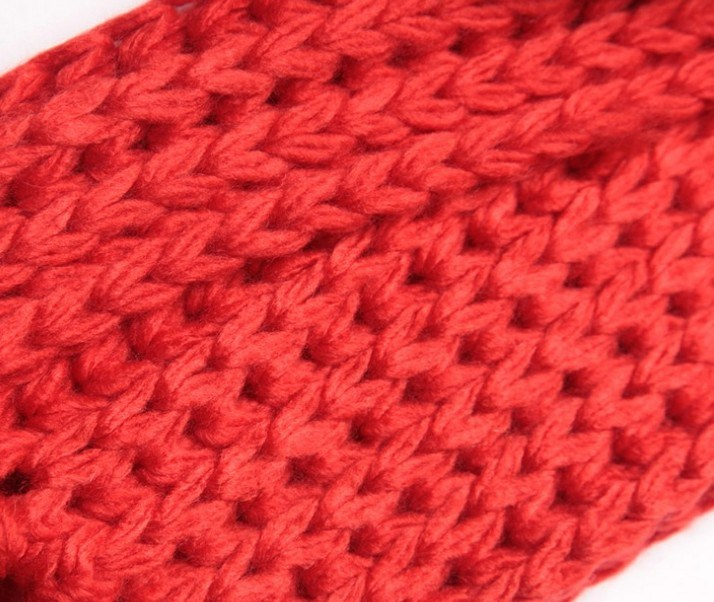 Fashion 100% Acrylic Knitted Knitting Scarf