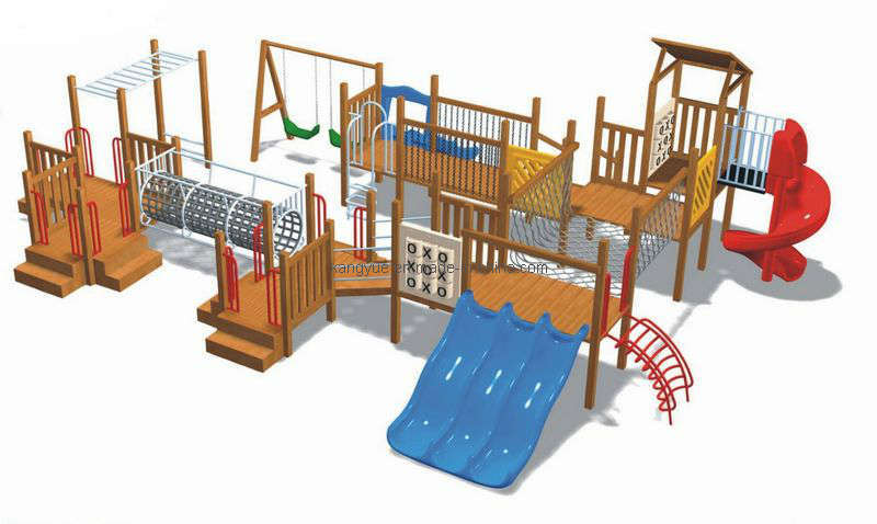 Backyard Playground Accessories : China Wooden Outdoor Playground Equipment (KYV1471) Photos