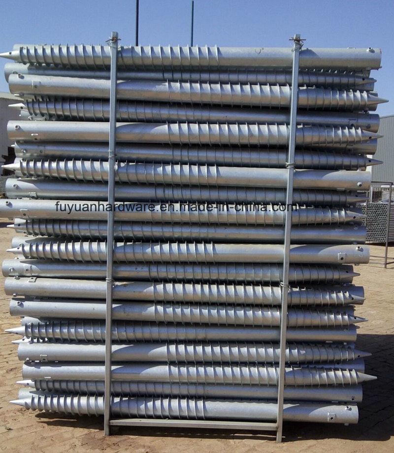 Steel Green Fence Used Galvanized Ground Screw
