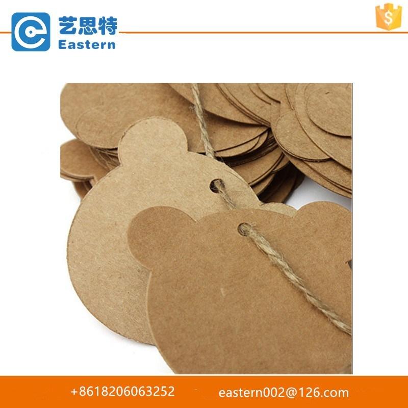 Custom Printed Kraft Paper Hang Tag with String