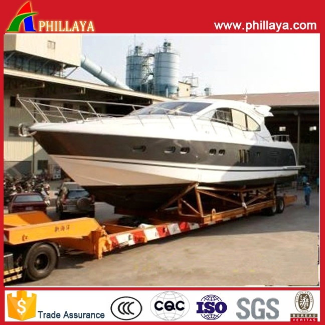 New Boat Yacht Vehicle Transport Lowbed Truck Semi Trailer