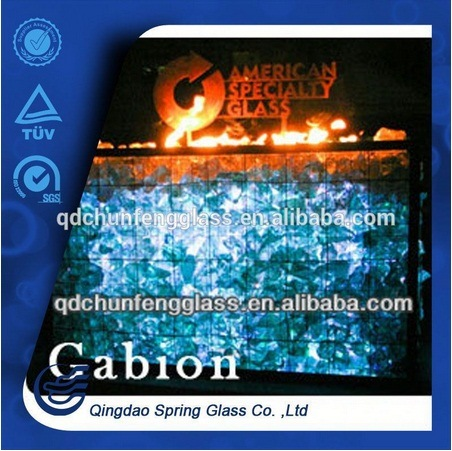 Crushed Fire Resistant Glass Rocks