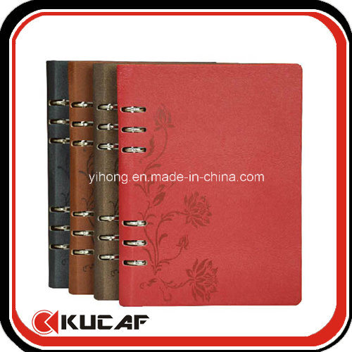 Custom Different Size Loose Leaf PU Journal Diary Notebook