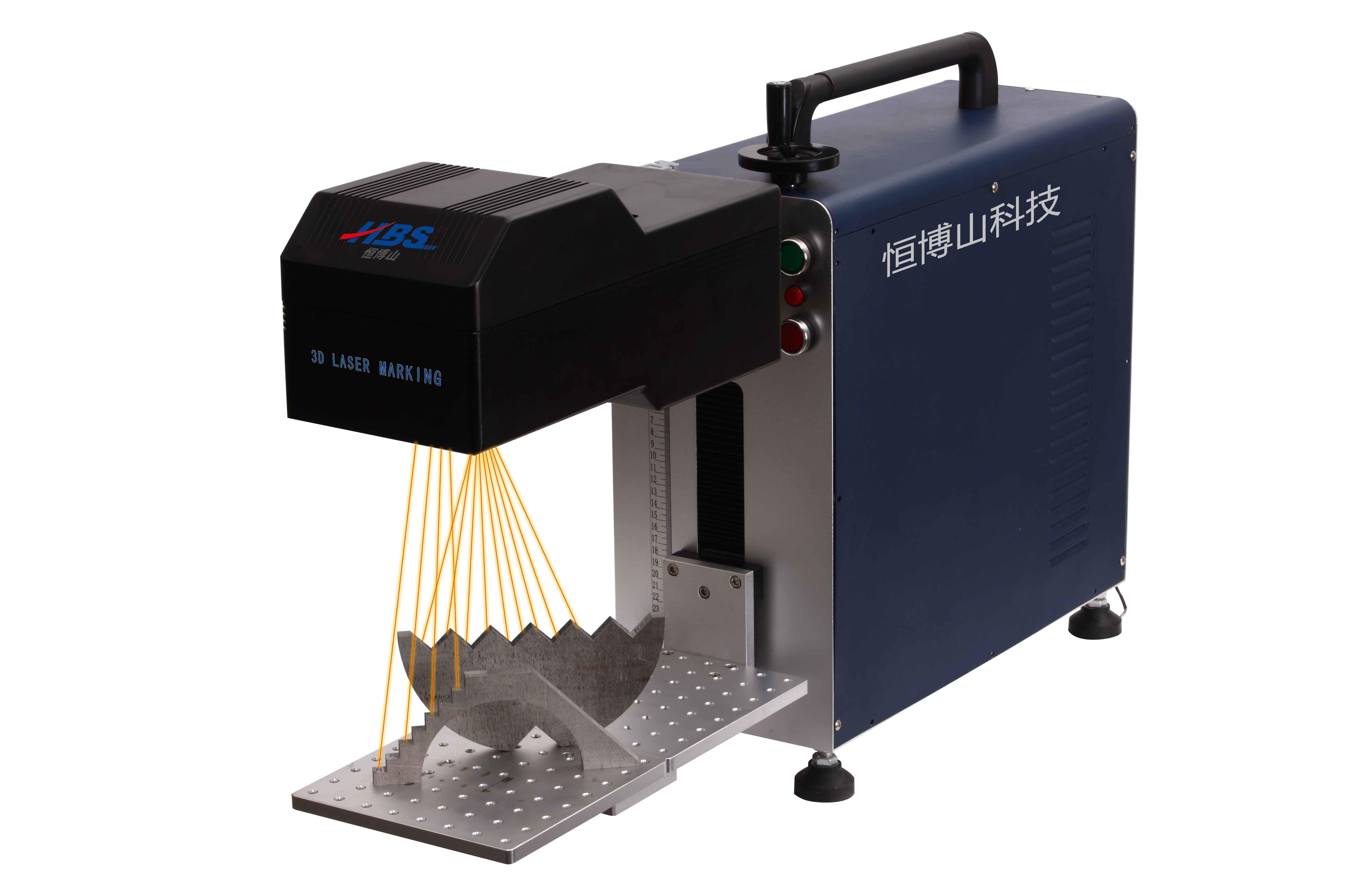 New Generation Big Marking Area 3D Fiber Laser Marking Machine