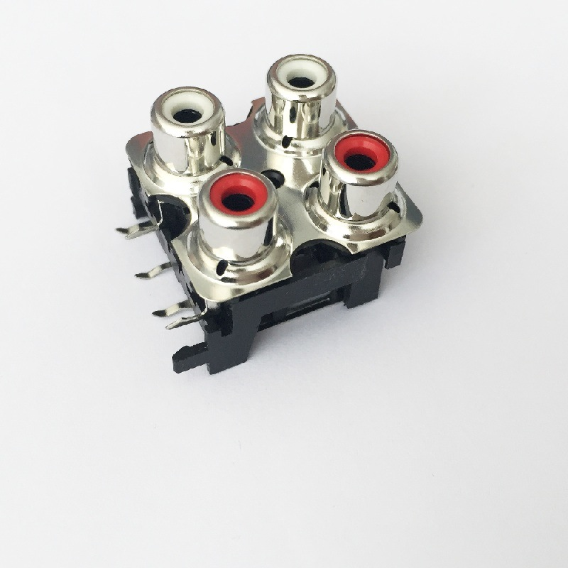 AV Socket with The Core Lotus Single-Hole RCA Socket Audio and Video Terminals AV4-8.4-13