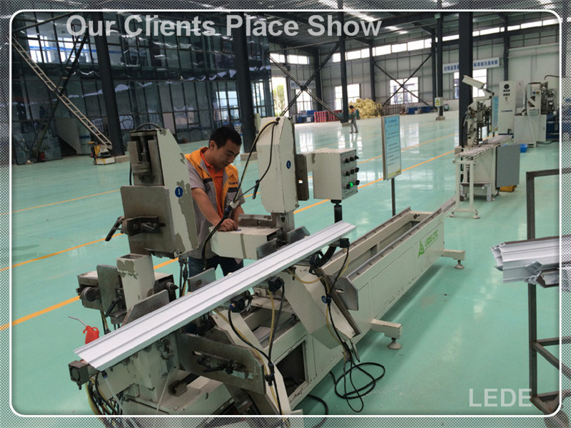 Glazing Bead Saw Machine with Cutting and Chamfering 1 Time for Aluminum Alloy